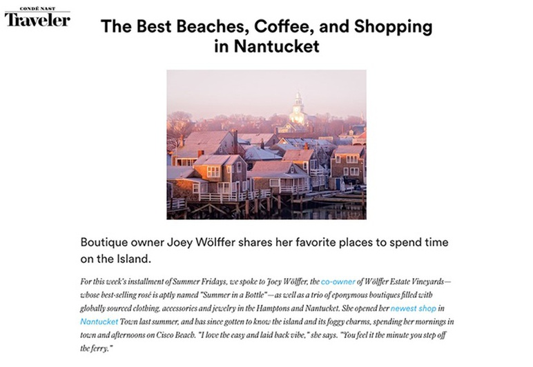 joey wolffer conde nast traveler