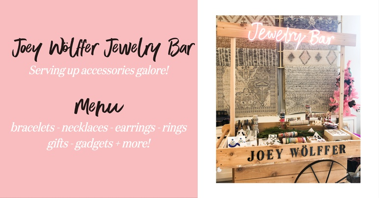 joey wolffer jewelry bar info graphic