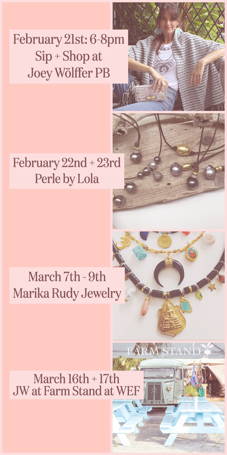 Feb and March 2019 trunk show schedule 2